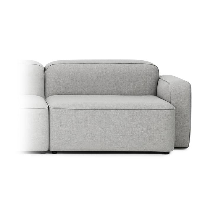 Rope Sofa Wide Module 320 Wide, Right Armrest by Normann Copenhagen in Light Grey (Fame Hybrid 1101)