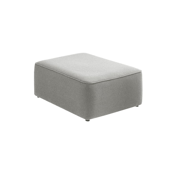 Rope Pouf Module 700 Small by Normann Copenhagen in Light Grey (Fame Hybrid 1101)