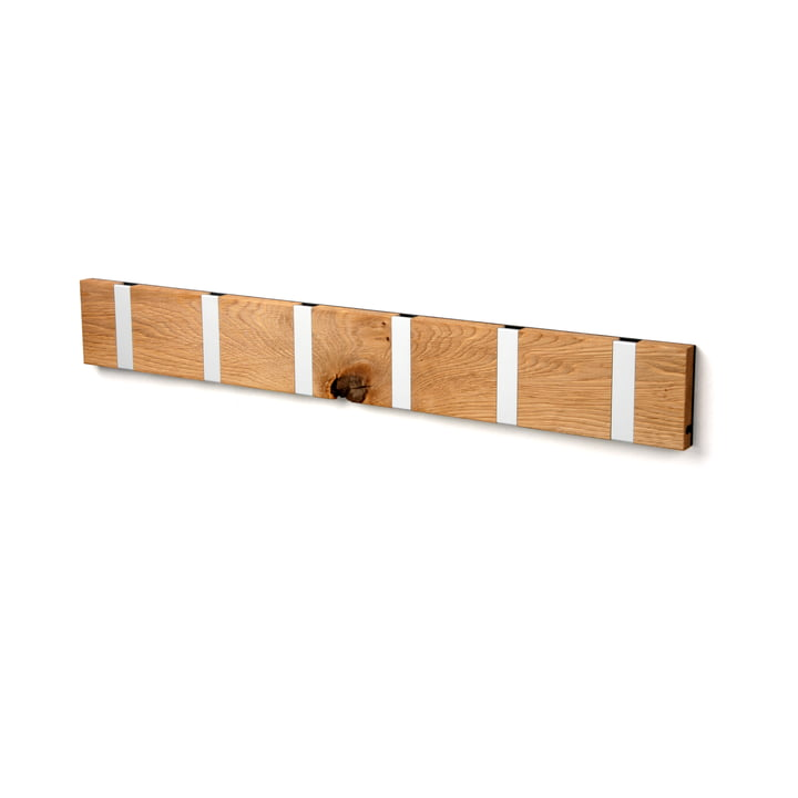 The LoCa - Knax Rustique 6 Coat Rack in oiled oak / grey