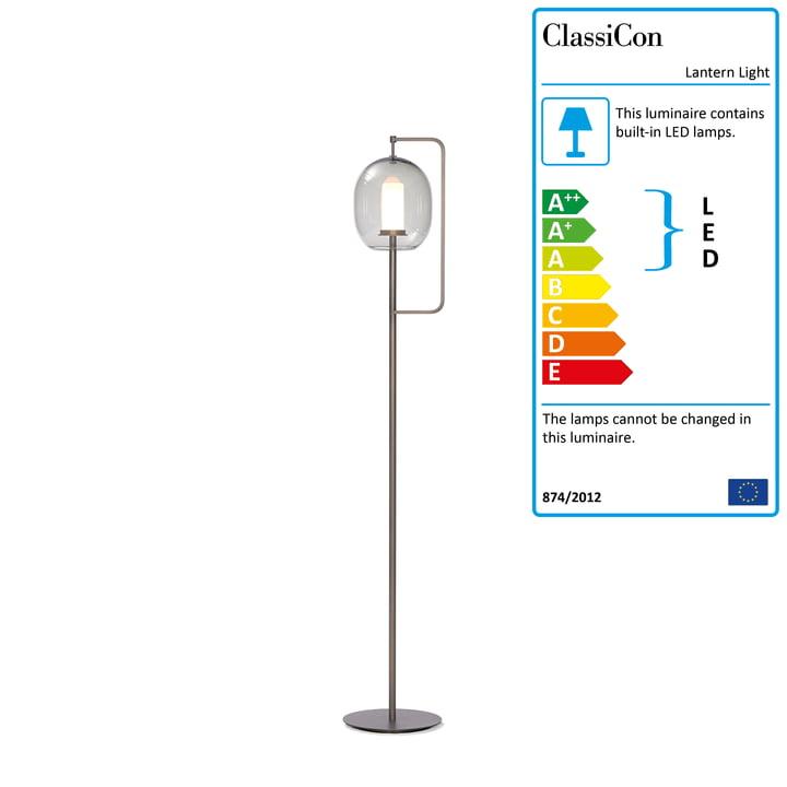 Lantern Light Floor Lamp by ClassiCon in Brass