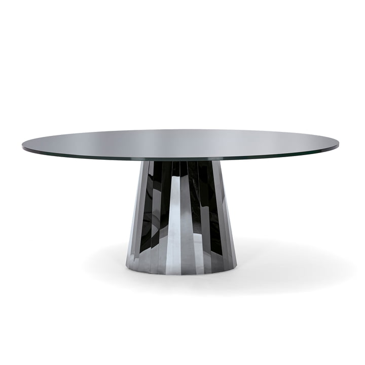 Pli Dining Table by ClassiCon in Onyx Black