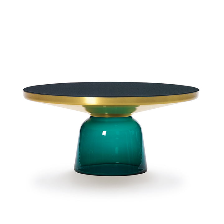 ClassiCon - Bell coffee table, brass / emerald green