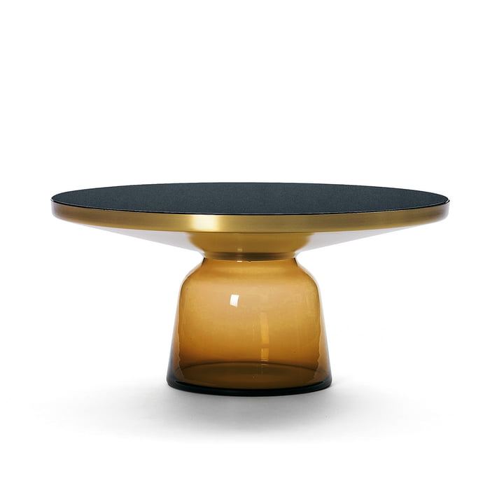ClassiCon - Bell coffee table, brass / amber orange