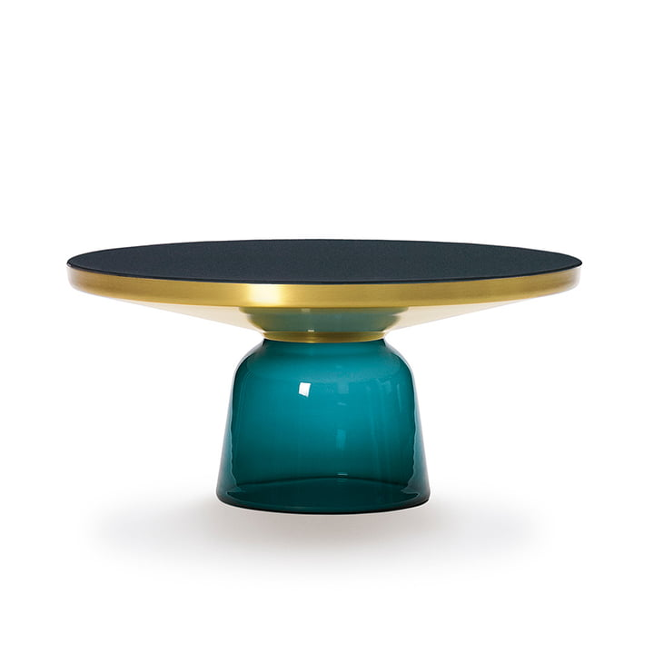 ClassiCon - Bell coffee table, brass / montana blue