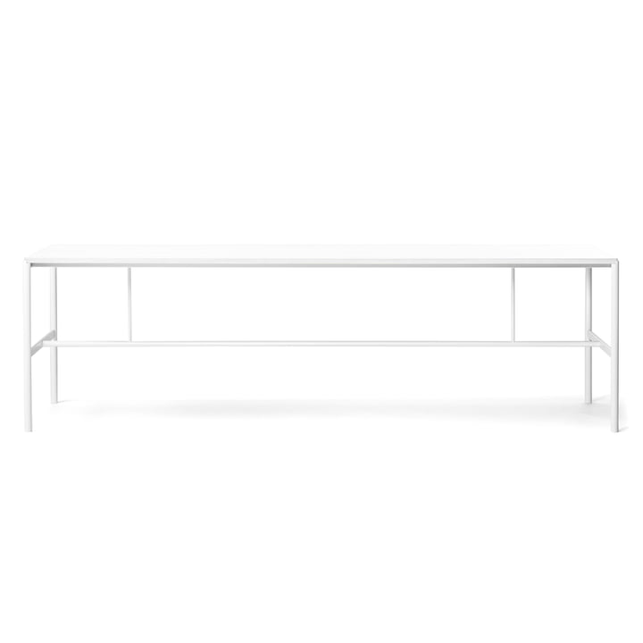 Million - Mies dining table 200 x 90 cm, white / laminate white