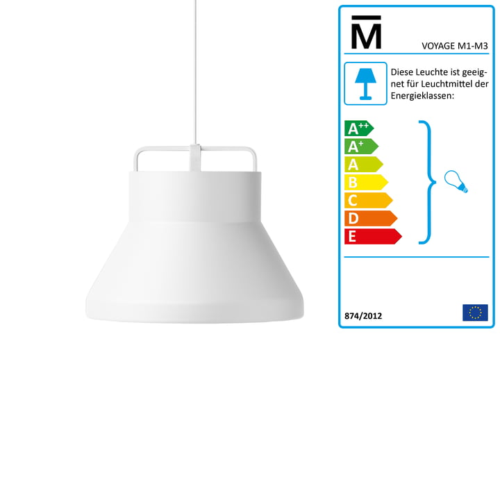 Million - Voyage M2 Pendant Lamp Ø 46 cm in white / white