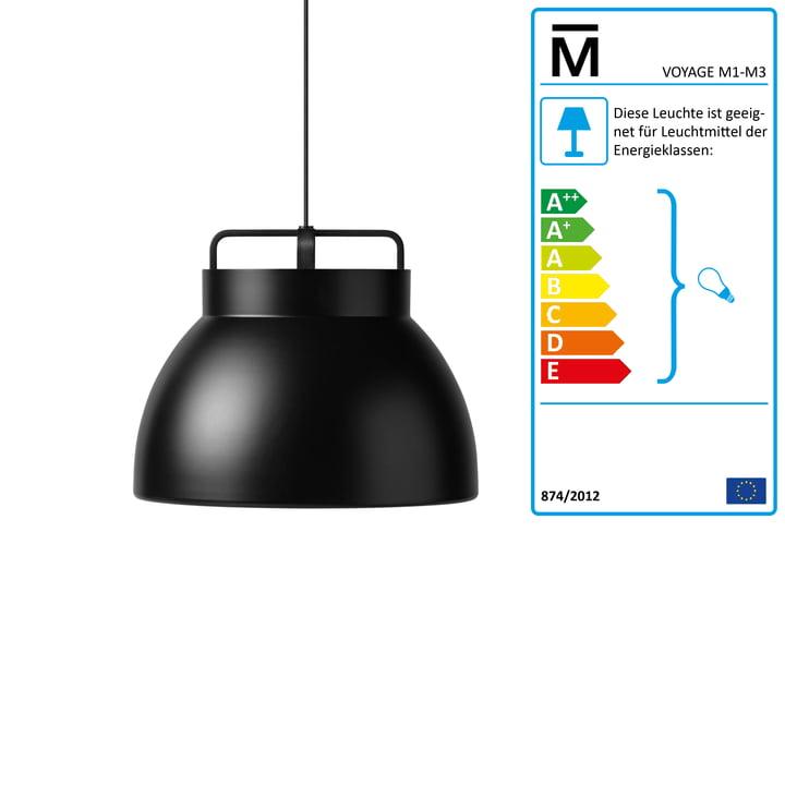 The Million - Voyage M3 Pendant Lamp Ø 46 cm in black / black