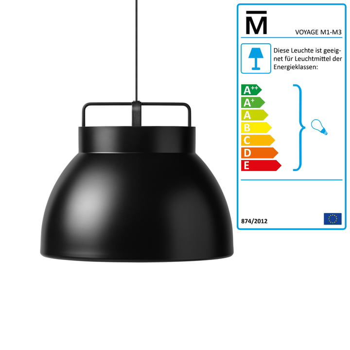 Million - Voyage M3 Pendant Lamp Ø 58 cm, black / black