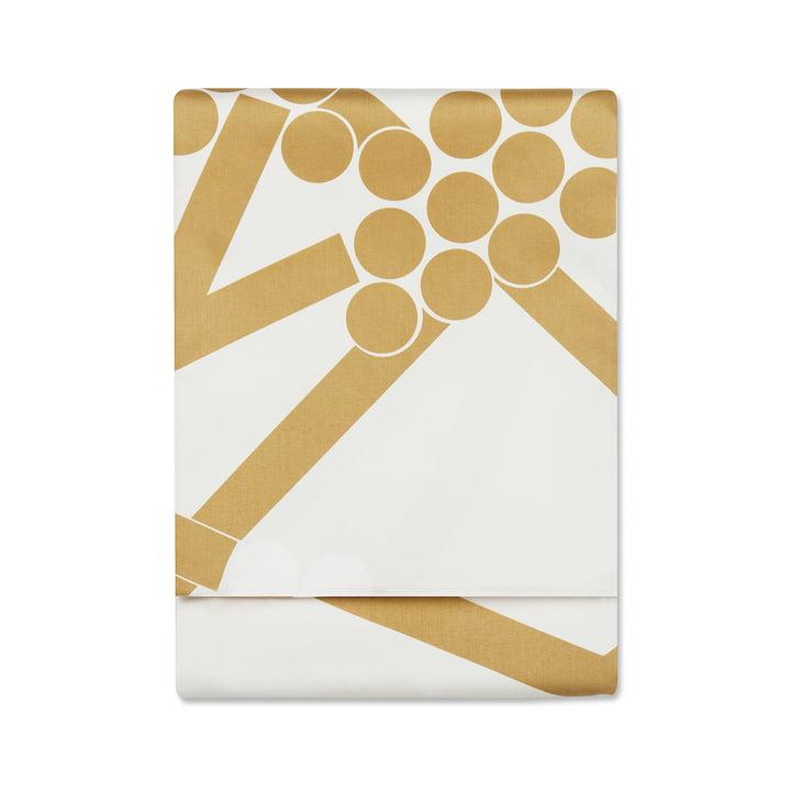 Marimekko - Hortensie Tablecloth 220 x 140 cm, gold (Winter 2017)