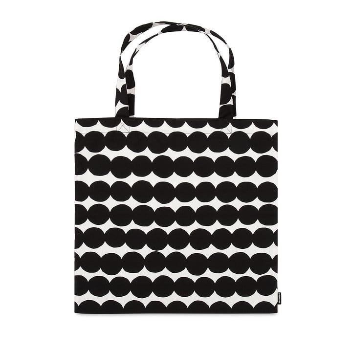 Räsymatto shopping bag from Marimekko in black / white