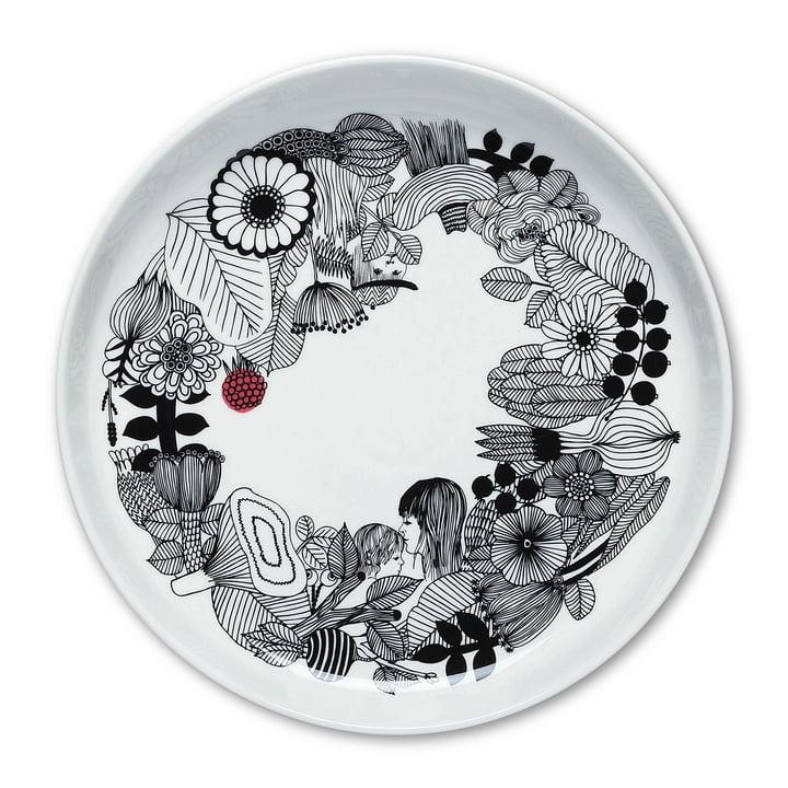 Siirtolapuutarha Plate Ø 32 cm by Marimekko in black / white