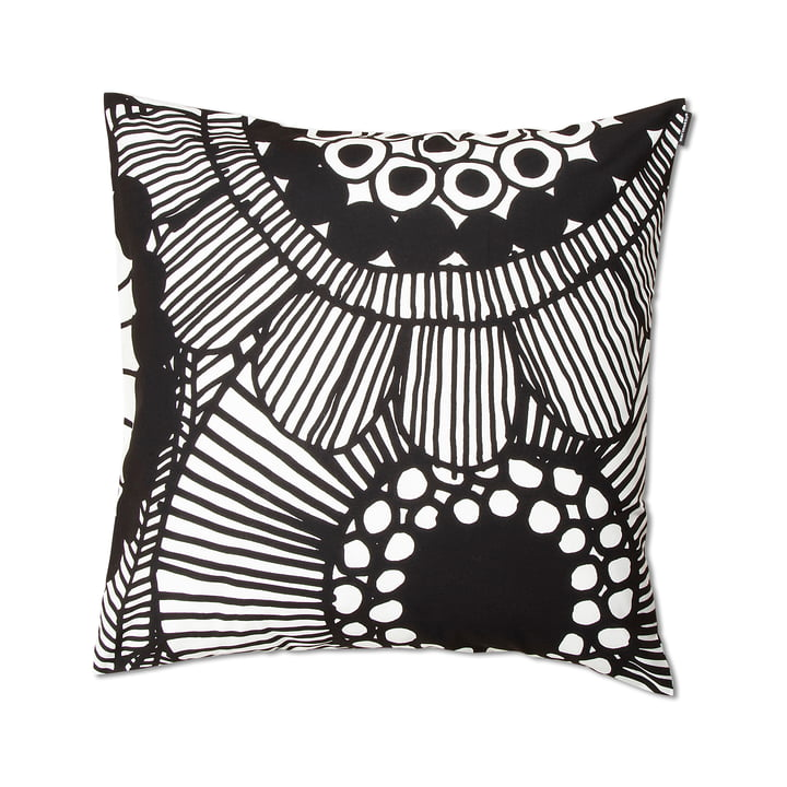 Siirtolapuutarha Cushion Cover 50 x 50 cm by Marimekko in Black / White