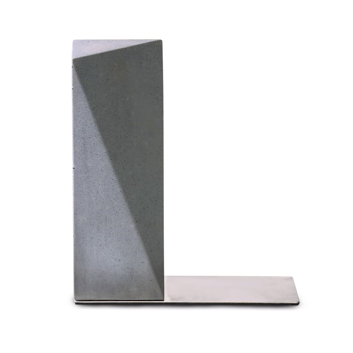 """"""" Nordwand """" bookend by Korn in gray"""