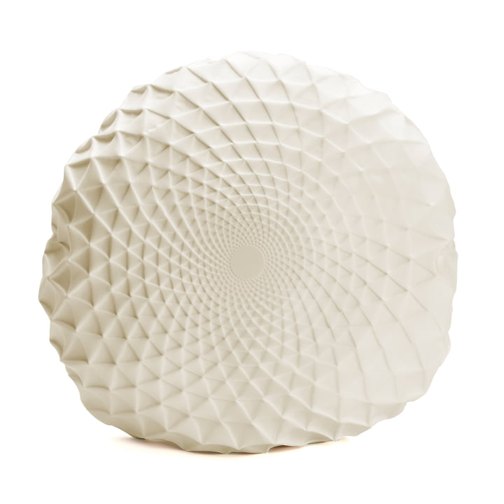 Mika Barr - Noam Cushion Cover of ∅ 60 cm, cream