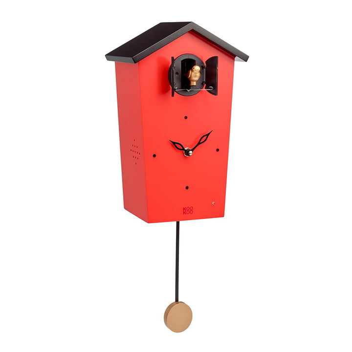 Bird House Cuckoo Clock, red (Limited Edition)