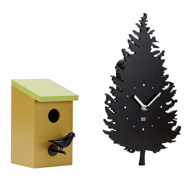 The Kookoo - Bird House Wall Clock with RC Radio Quartz Movement