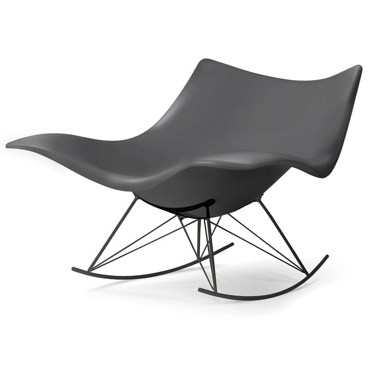 The Fredericia - Stingray Rocking Chair in Matt Grey / Flint