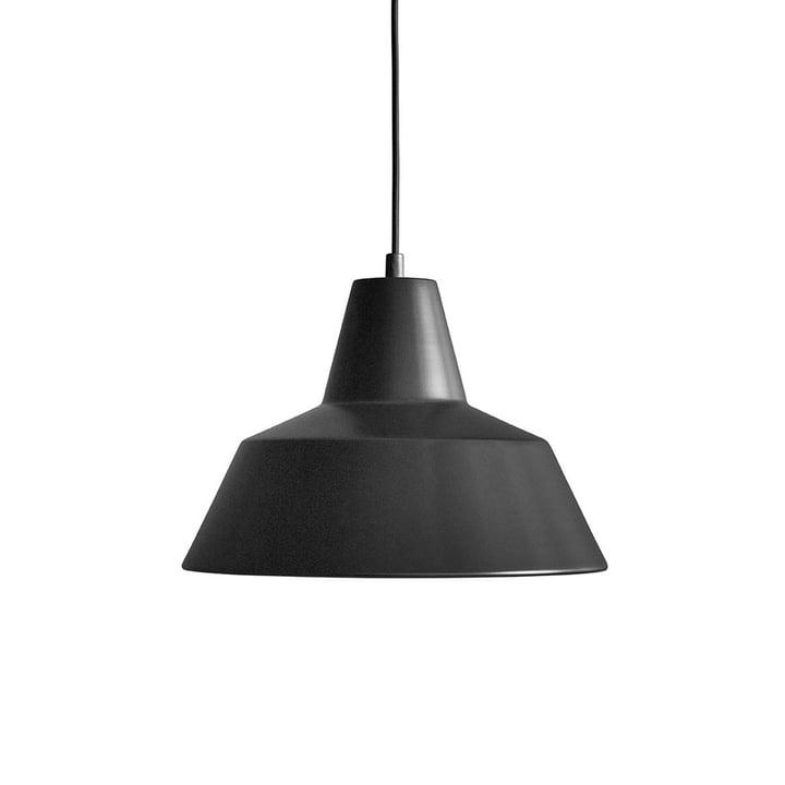 Workshop Lamp W3 by Made by Hand in matt black / black
