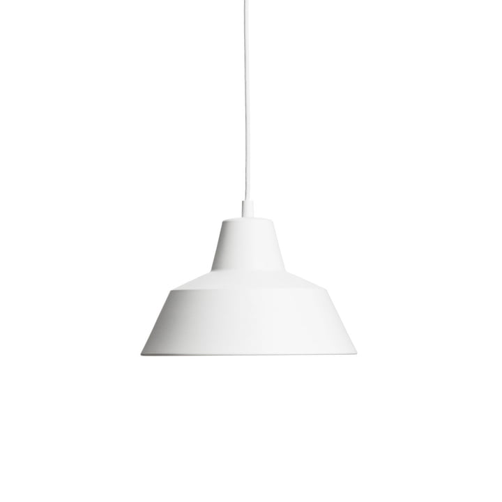 Workshop Lamp W2 by Made by Hand in Matt White / White
