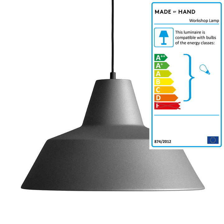 Workshop Lamp W2 by Made by Hand in Anthracite Grey / Black