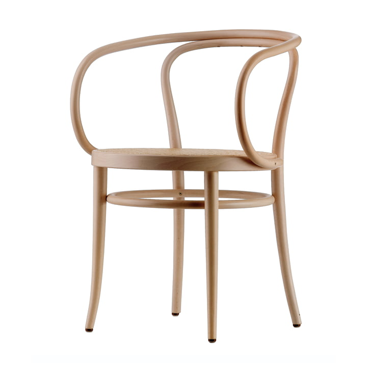 The 209 Bentwood Chair by Thonet made from Black Stained Beech (TP 17) with Cane Work