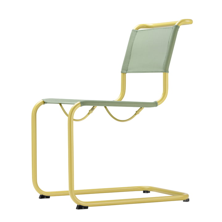 S 33 N All Season Chair by Thonet in mustard yellow / moss