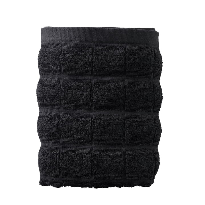 Tiles Bath Towel 70 x 140 cm by Juna in Black