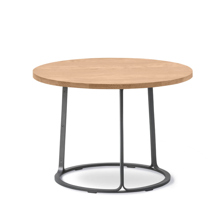 The Fredericia - Barbry coffee table H 40.5 cm in oiled oak / black