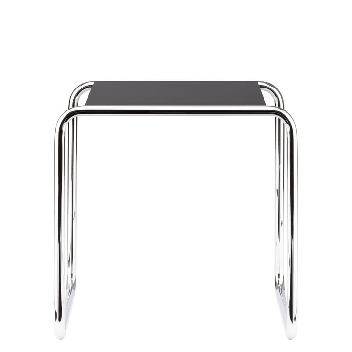 B 9 a Nesting Table by Thonet in Chrome / Jet Black (RAL 9005)