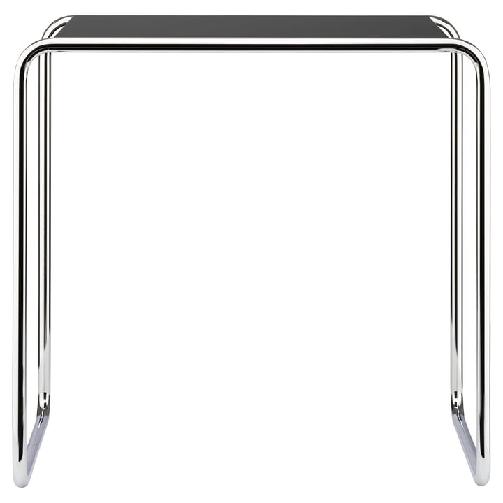 B 9 d Nesting Table by Thonet in Chrome / Jet Black (RAL 9005)
