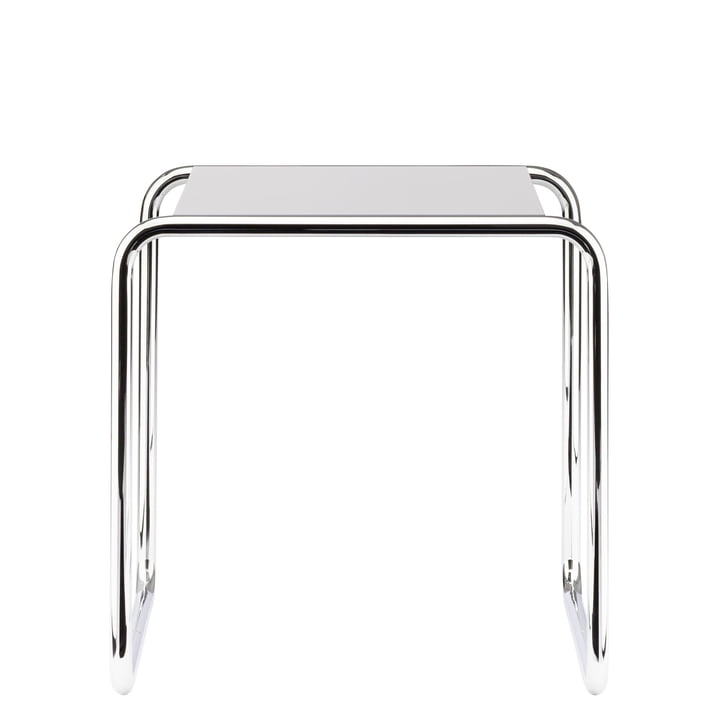 B 9 a Nesting Table by Thonet in Chrome / Pure White (RAL 9010)