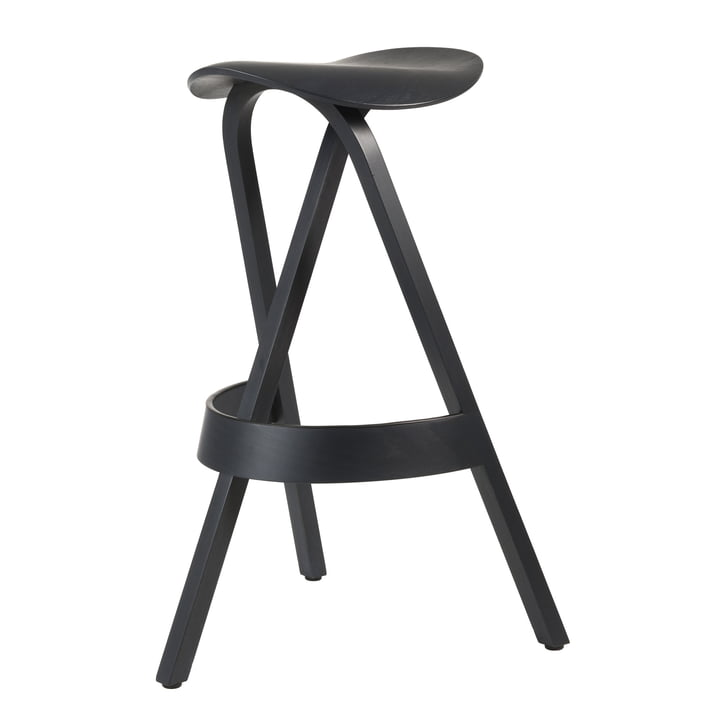 Thonet - 404 H Barstool, black stained beech (TP 29)