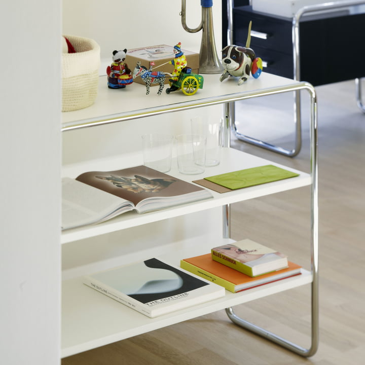 B 22 Regal by Thonet in White