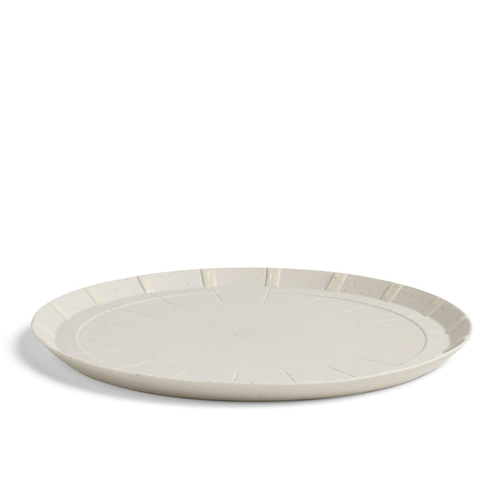 Isolated product image of the Hay - Paper Porcelain Plate Ø 17.5 cm in grey.