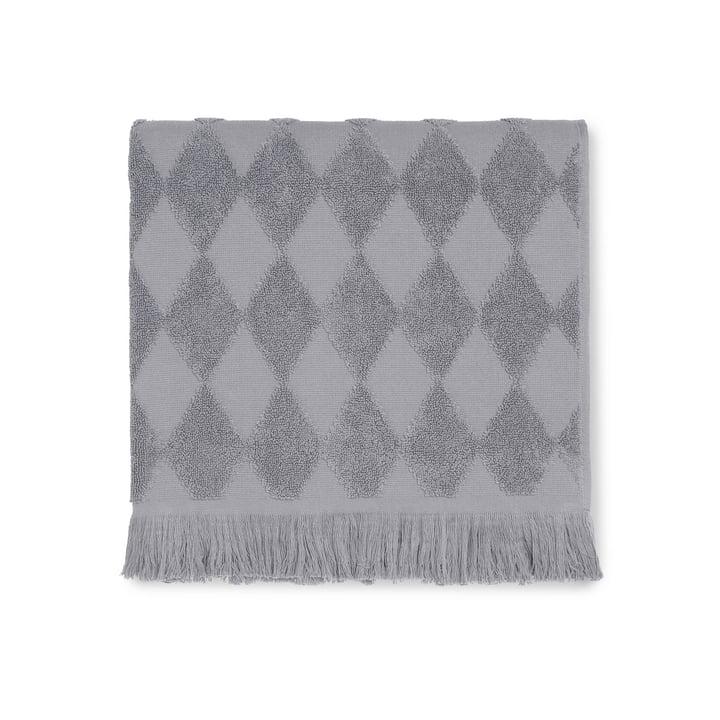 The Juna - Diamond Bath Towel 70 x 140 cm in grey