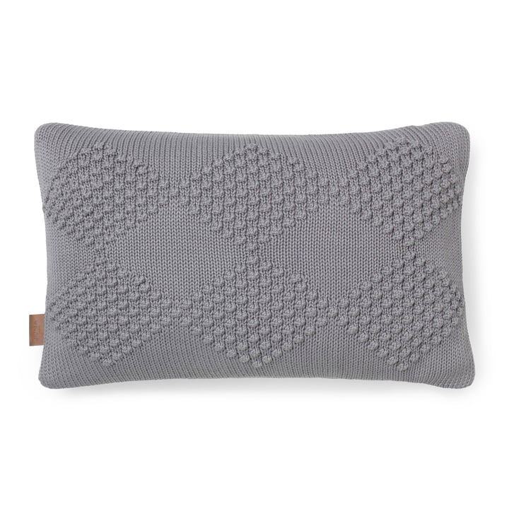 Diamond Cushion 60 x 40 cm by Juna in Grey