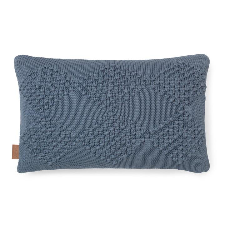 Diamond cushion 60 x 40 cm by Juna in smoke blue
