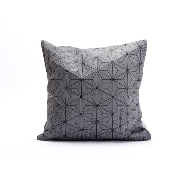 Mika Barr - Tamara Cushion Cover, 40 x 40 cm, grey / black