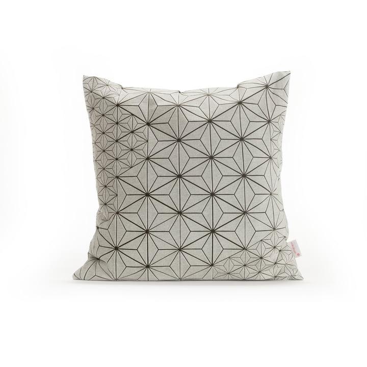 Mika Barr - Tamara Cushion Cover, 40 x 40 cm, white / olive