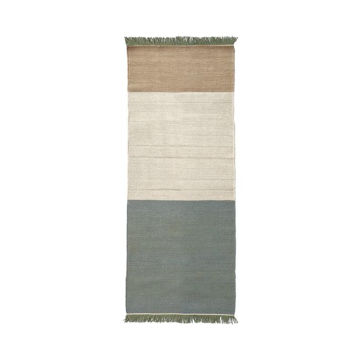 The nanimarquina - Tres Stripes 80 x 240 cm in salvia