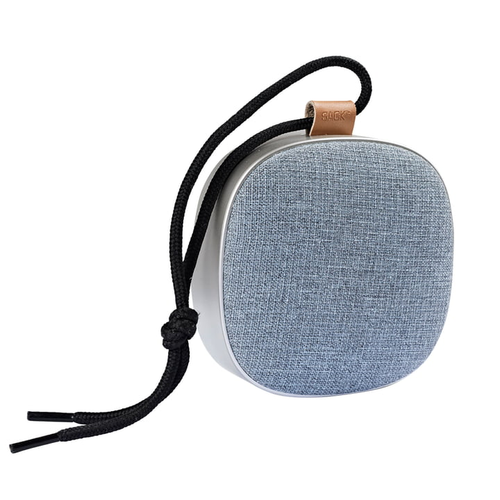 The bag it - Woof it Go loudspeaker in silver / dusty blue