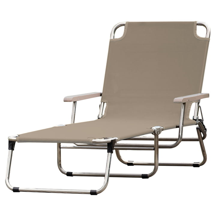The Fiam - Amigo 40+ with armrest in taupe