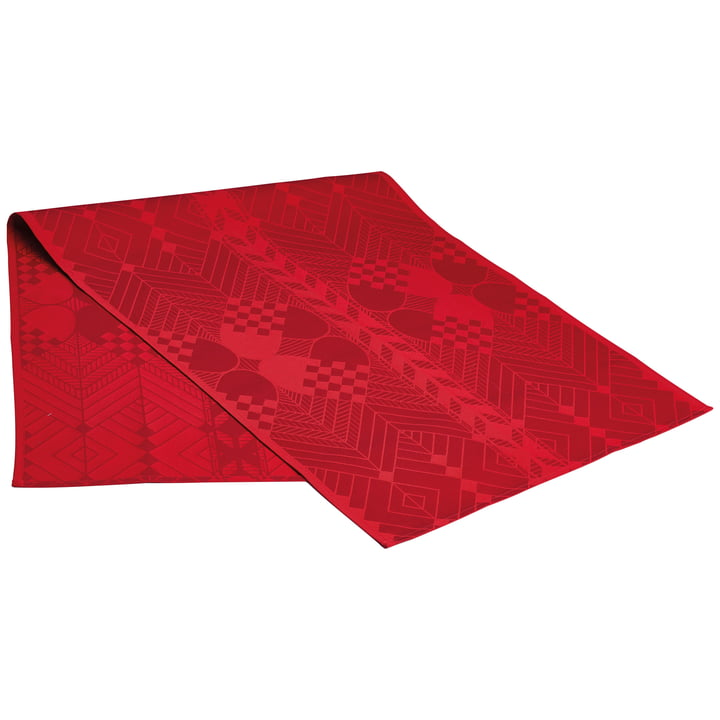 Christmas table runner by Georg Jensen Damask in deep red