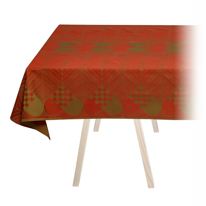 Christmas tablecloth from Georg Jensen Damask in Christmas red