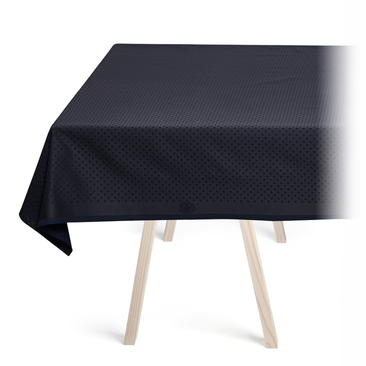 Snowflakes Tablecloth by Georg Jensen Damask in Dark Blue
