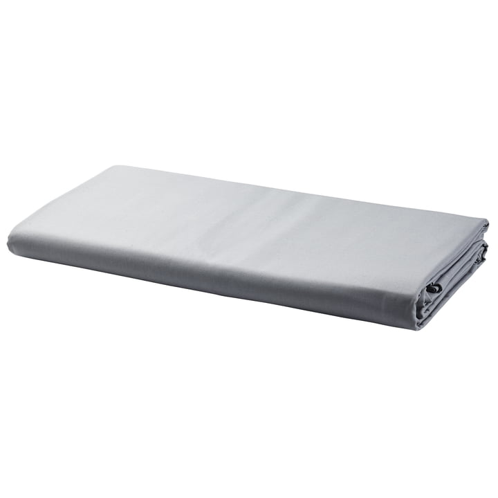 Fitted sheet by Georg Jensen Damask in Platinum
