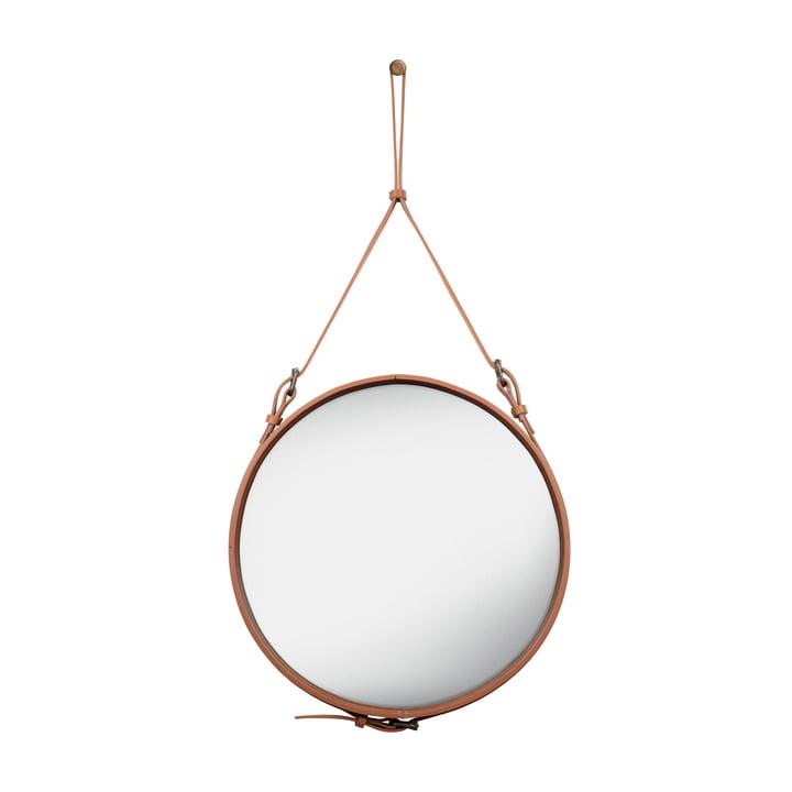 Adnet Mirror Ø 58 cm by Gubi in Brown