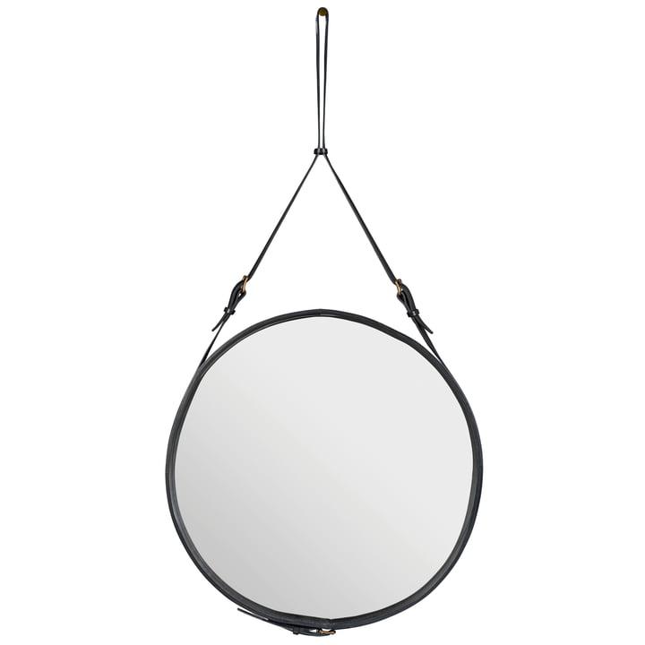 Adnet Mirror Ø 70 cm by Gubi in Black
