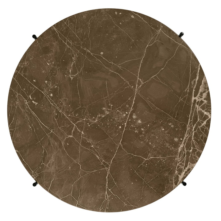 Brown Marble Table Top of the TS Coffee Table by Gubi