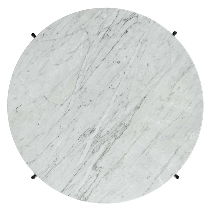 White Marble Table Top of the TS Coffee Table by Gubi